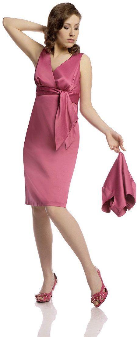 Sukienka FSU189 KORALOWY