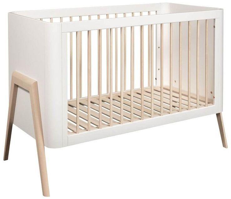 Łóżeczko dziecięce torsten 120x60 troll nursery (k. biały + nat. drewno)