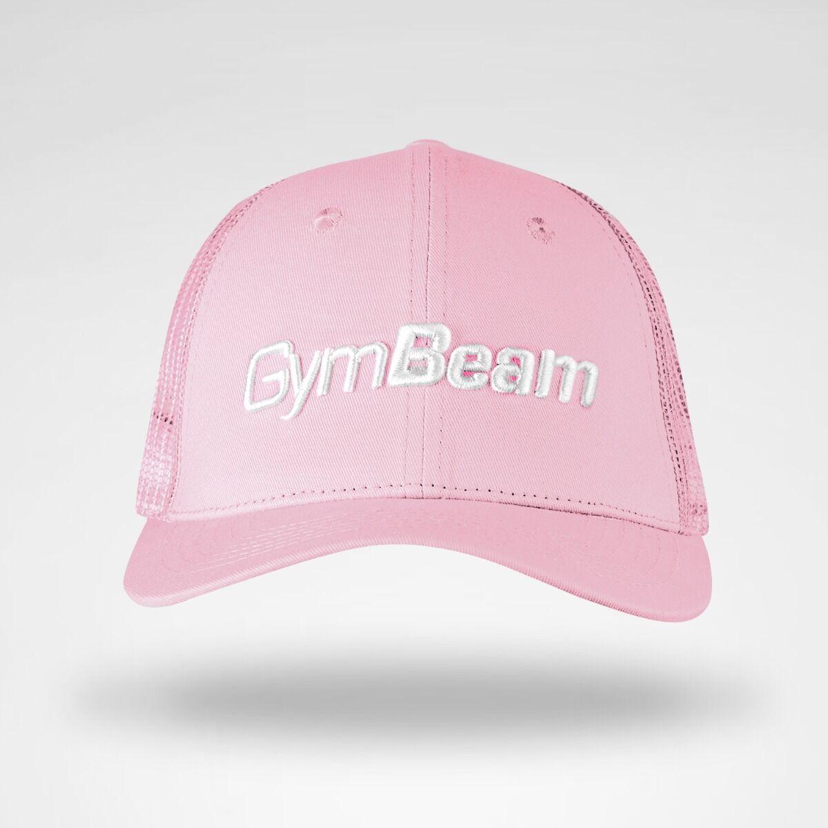 GymBeam Bejsbolówka Mesh Panel Cap Baby Pink