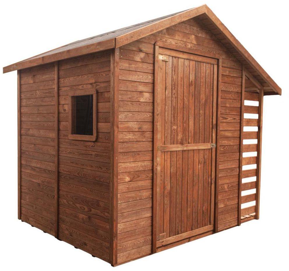Domek ogrodowy domek z drewutnią 259 x 213 cm STELMET