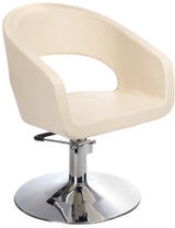 Fotel fryzjerski Paolo BH-8821 kremowy