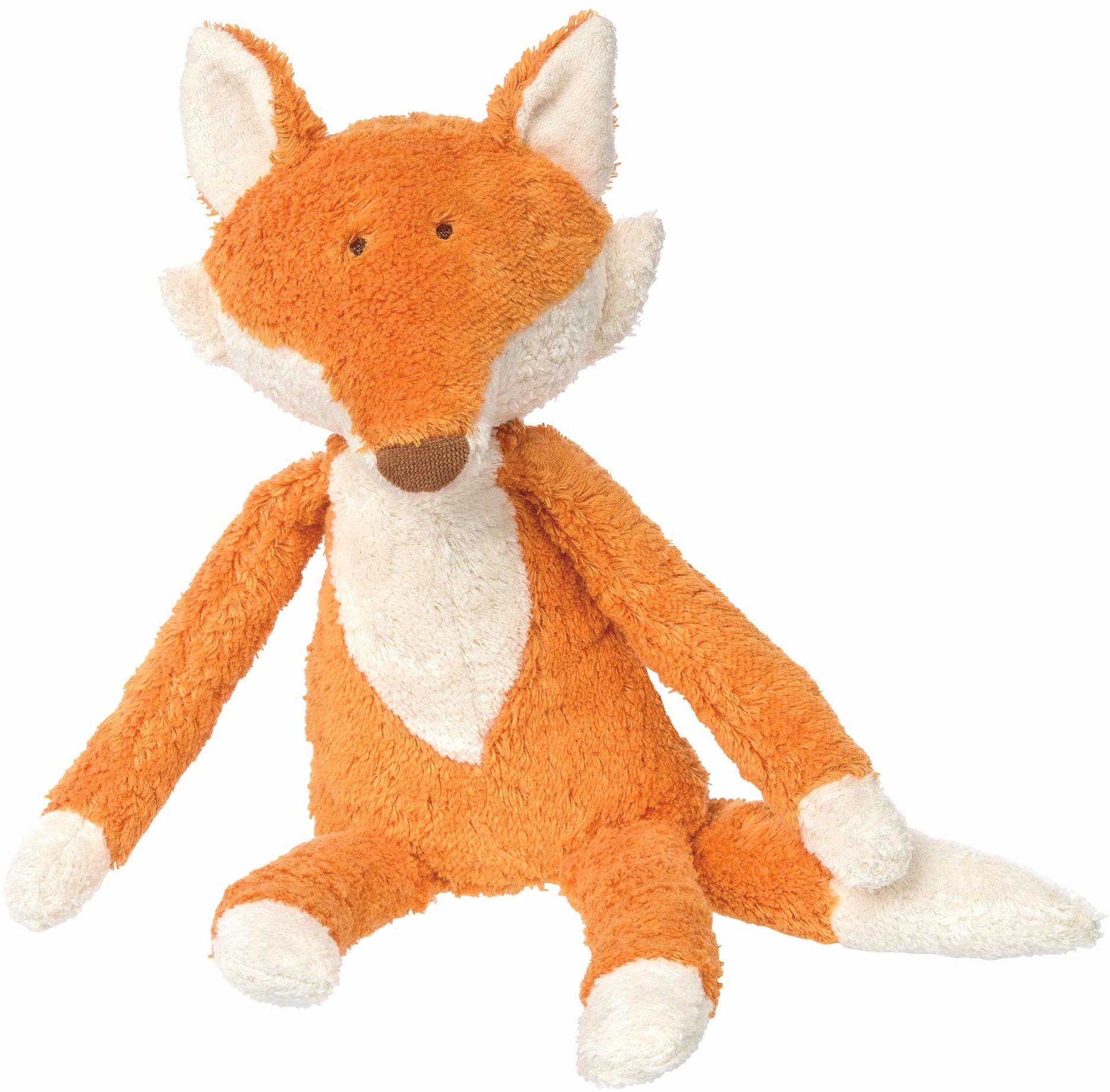 SIGIKID 38781 przytulanka lis Green dla dziewczynek i chłopców zabawka dla niemowląt zalecana od urodzenia pomarańczowa