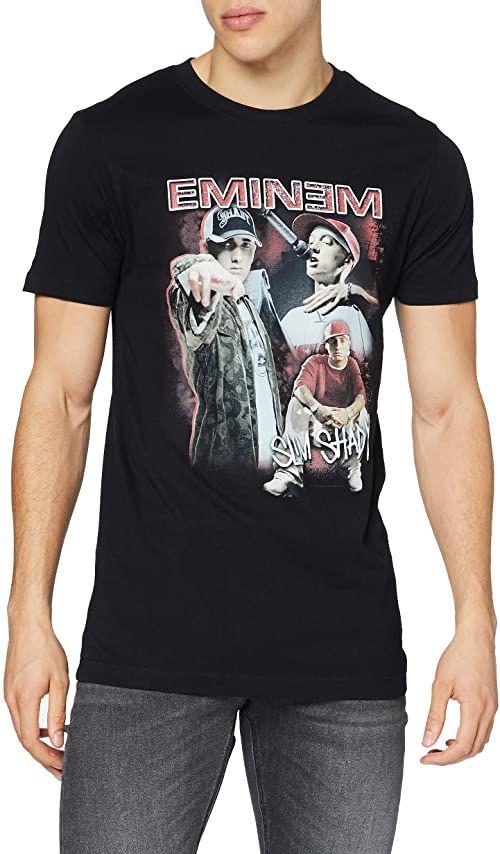 Mister Tee Męski T-shirt Eminem Slim Shady Tee czarny czarny S
