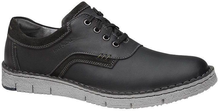 Półbuty JOSEF SEIBEL 47713 138 100 Ruben 13 Schwarz Czarne Sneakersy