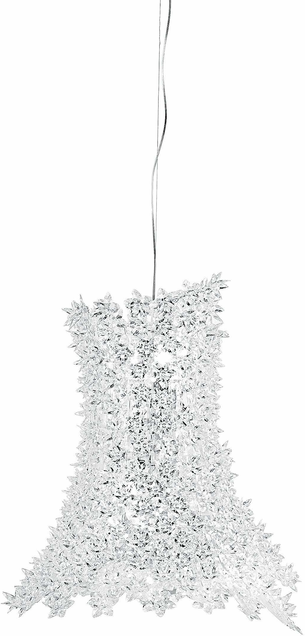 Kartell Bloom, lampy wiszące, przezroczyste, pachnące kwiaty