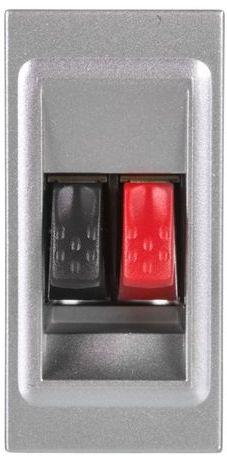 MOSAIC Gniazdo głośnikowe aluminium 079250