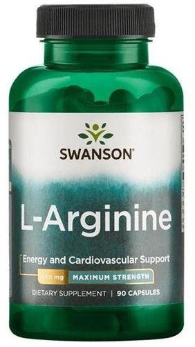L-Arginina Forte Swanson 850 mg Maximum Strength Potencja Energia Siła 90 kaps. 117133