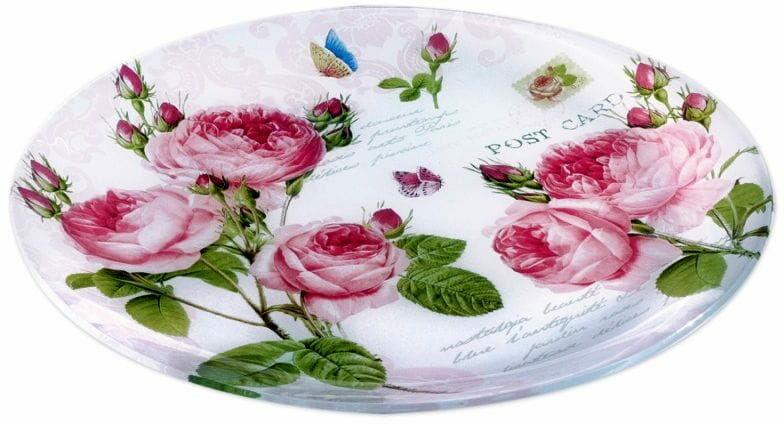 Easy Life/R2S, połmisek ze szkła - Romantic Roses