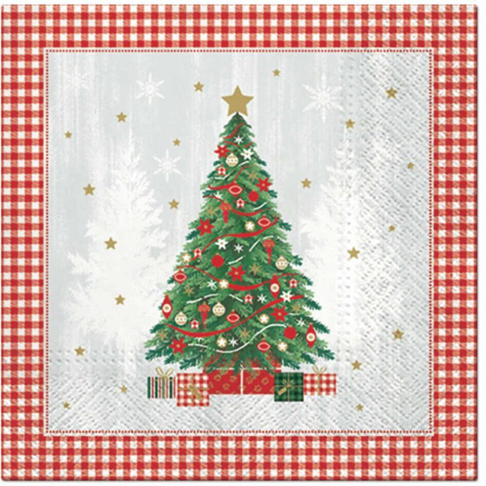 Serwetki świąteczne Choinka bożonarodzeniowa - 33 cm - 20 szt.