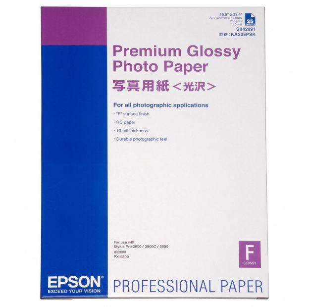 Papier EPSON Premium Glossy Photo 255g - A2, 25 arkuszy (C13S042091)