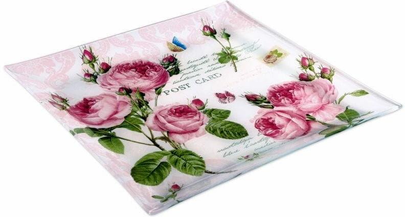 Easy Life/R2S, półmisek ze szkła - Romantic Roses