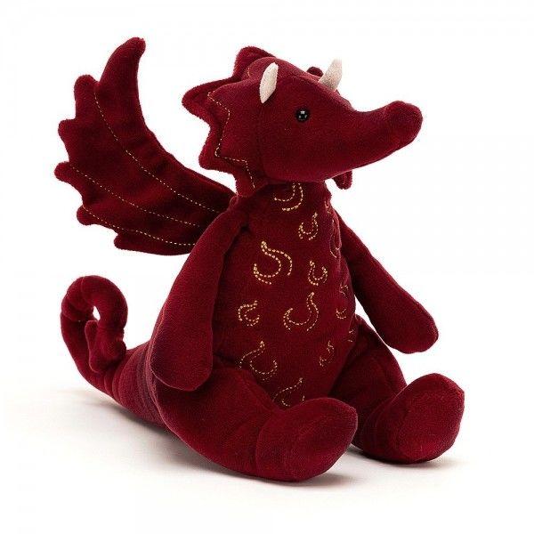 Jellycat - Przytulanka Maskotka Ruby smok 19cm