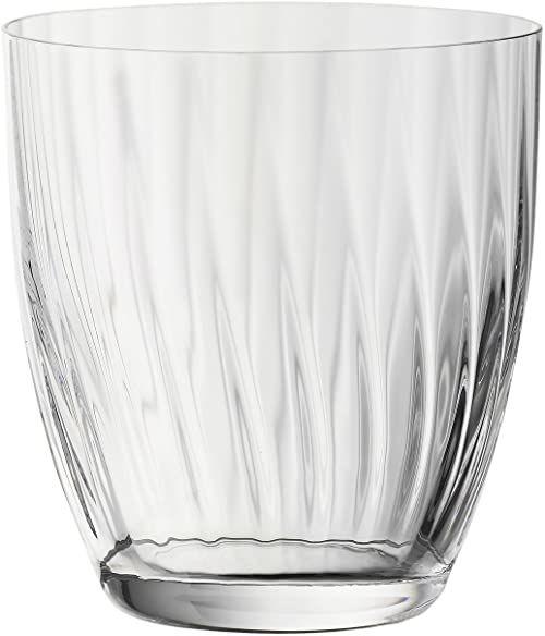 """Bohemia Cristal 093 006 160 6-częściowy zestaw kubków """"New England"""" ok. 260 ml ze szkła kryształowego przezroczystego z optyką"""
