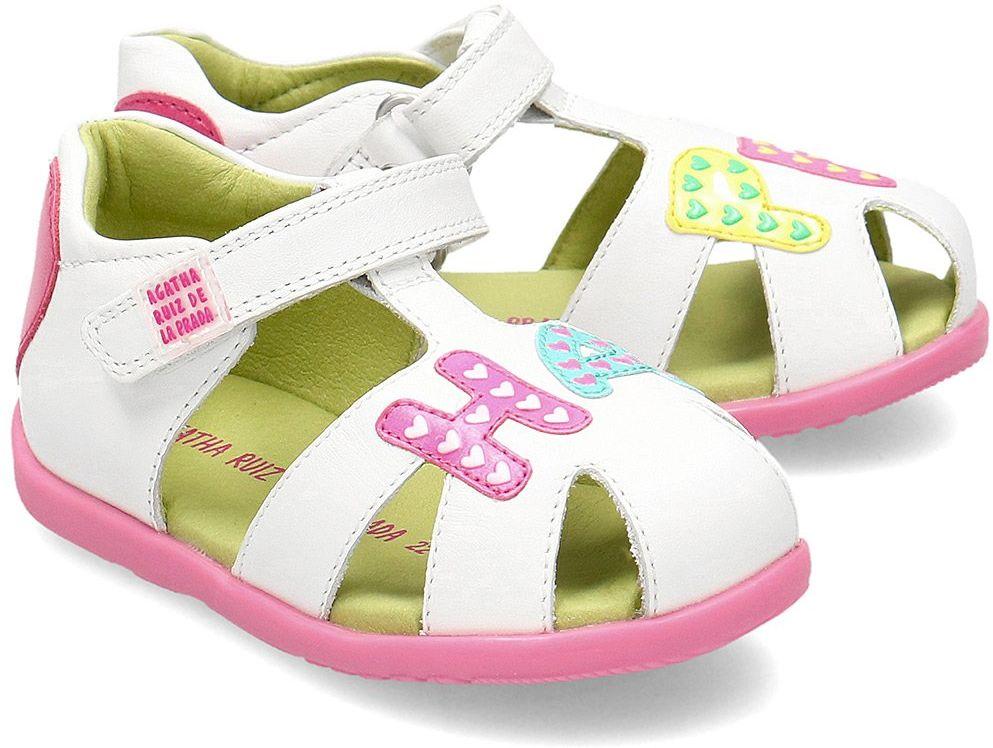 Agatha - Sandały Dziecięce - 202902 B-BLANCO - Biały
