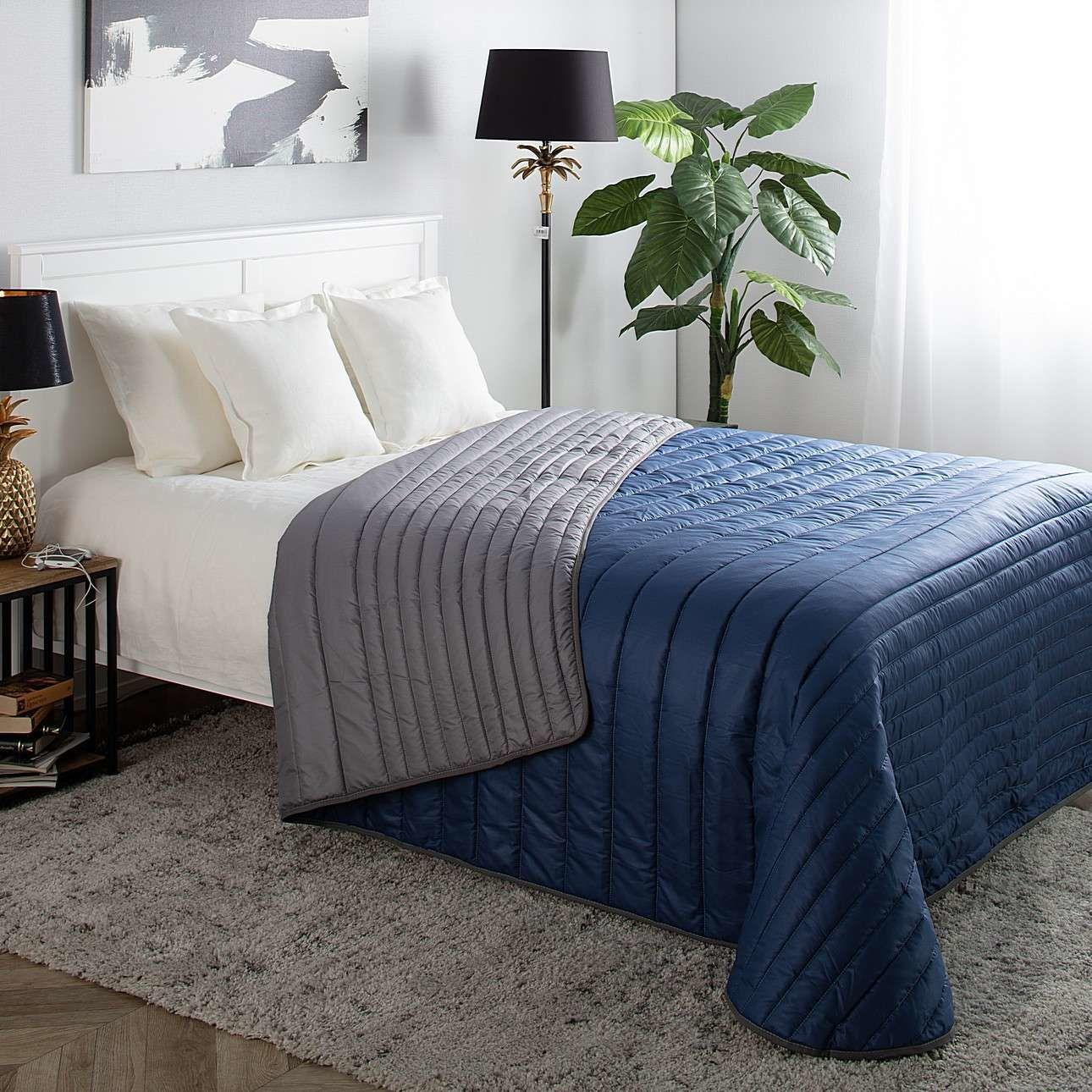 Narzuta pikowana Soft Touch 220x240cm Blue, 220 x 240 cm