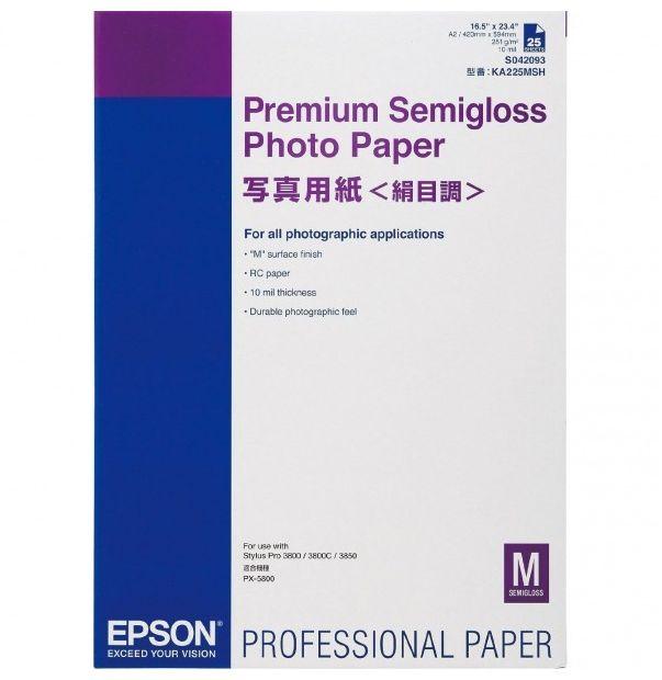 Papier EPSON Premium Semigloss Photo 250g A2 - 25 arkuszy (C13S042093)