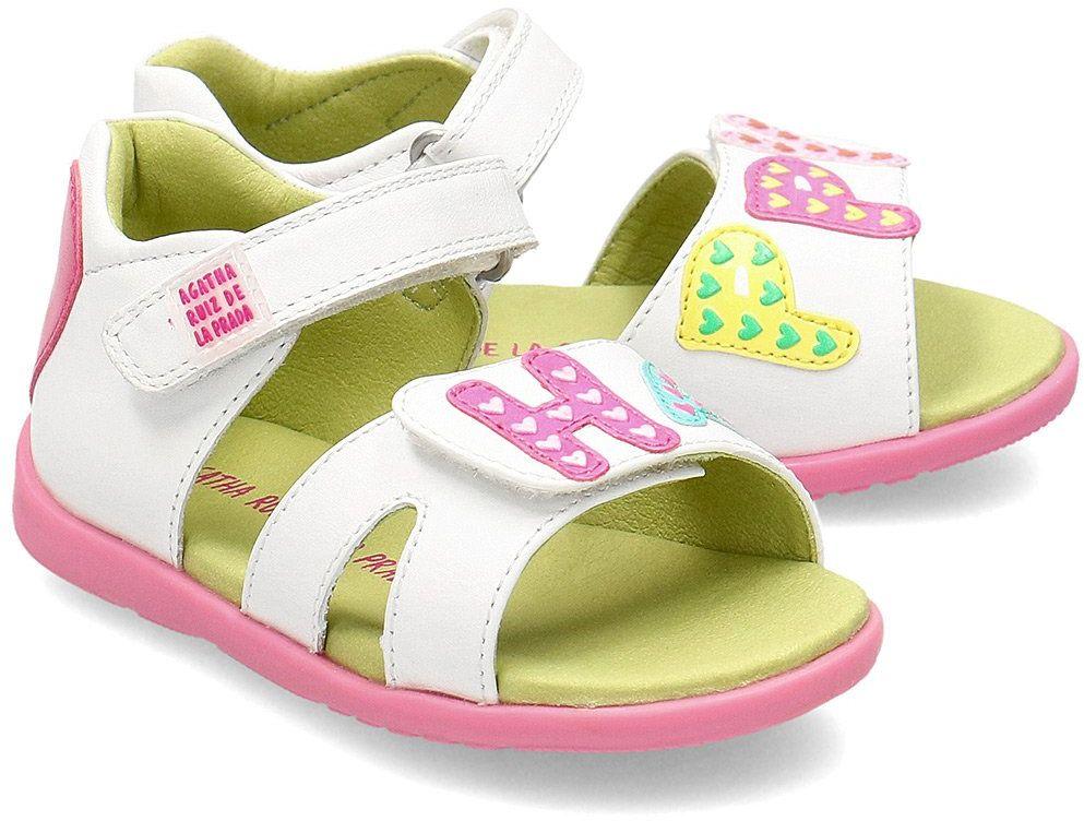 Agatha - Sandały Dziecięce - 202903 B-BLANCO - Biały