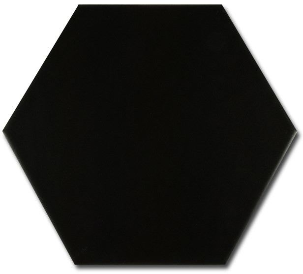 Hexatile Negro Mate 17,5x20