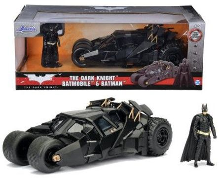 Jada DC The Dark Knight Batmobile i figurka Batmana 3215005