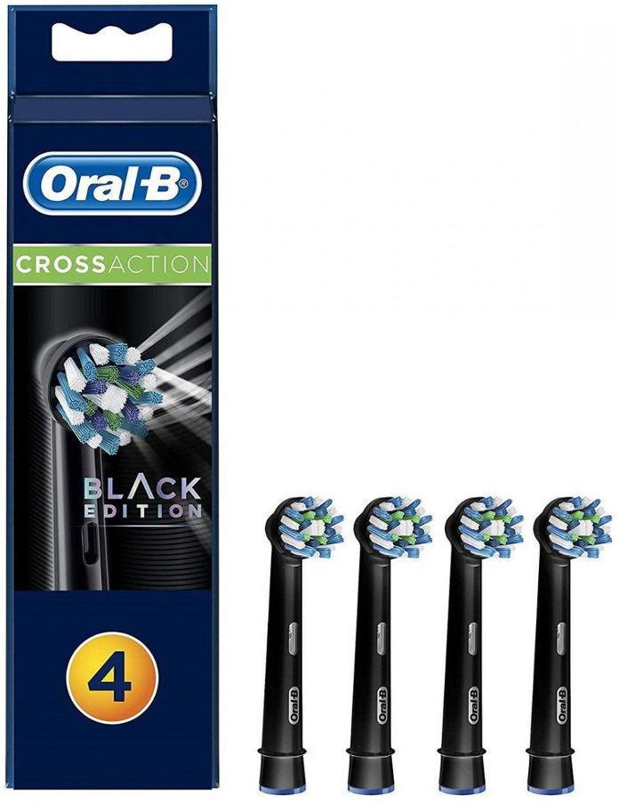BRAUN Oral-B CrossAction EB50-4 BLACK 4 szt. - końcówki do szczoteczek elektrycznych Oral-B w kolorze CZARNYM