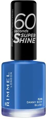Rimmel London 60 Seconds Super Shine lakier do paznokci 8 ml dla kobiet 828 Danny Boy, Blue!