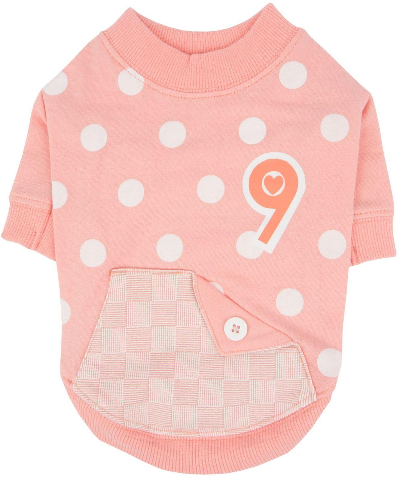 Pinkaholic New York NARA-TS7303-LE-S Lt.Peach Coco koszulki dla zwierząt domowych, małe