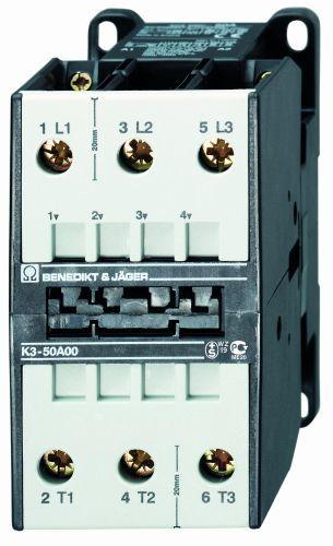 Stycznik 3-polowy 22kW 50A 400V AC K3-50A00 400