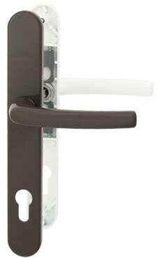 Klamka drzwiowa Filiz 35 na szyldzie PZ biel/brąz