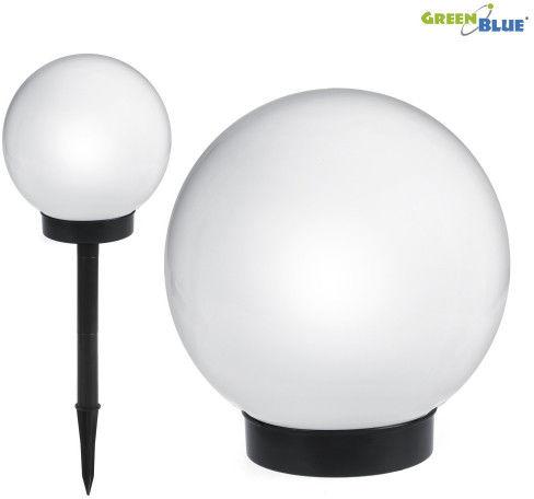 Solarna lampa wolnostojąca ogrodowa - kula 20x20x53cm, bialy LED GB123