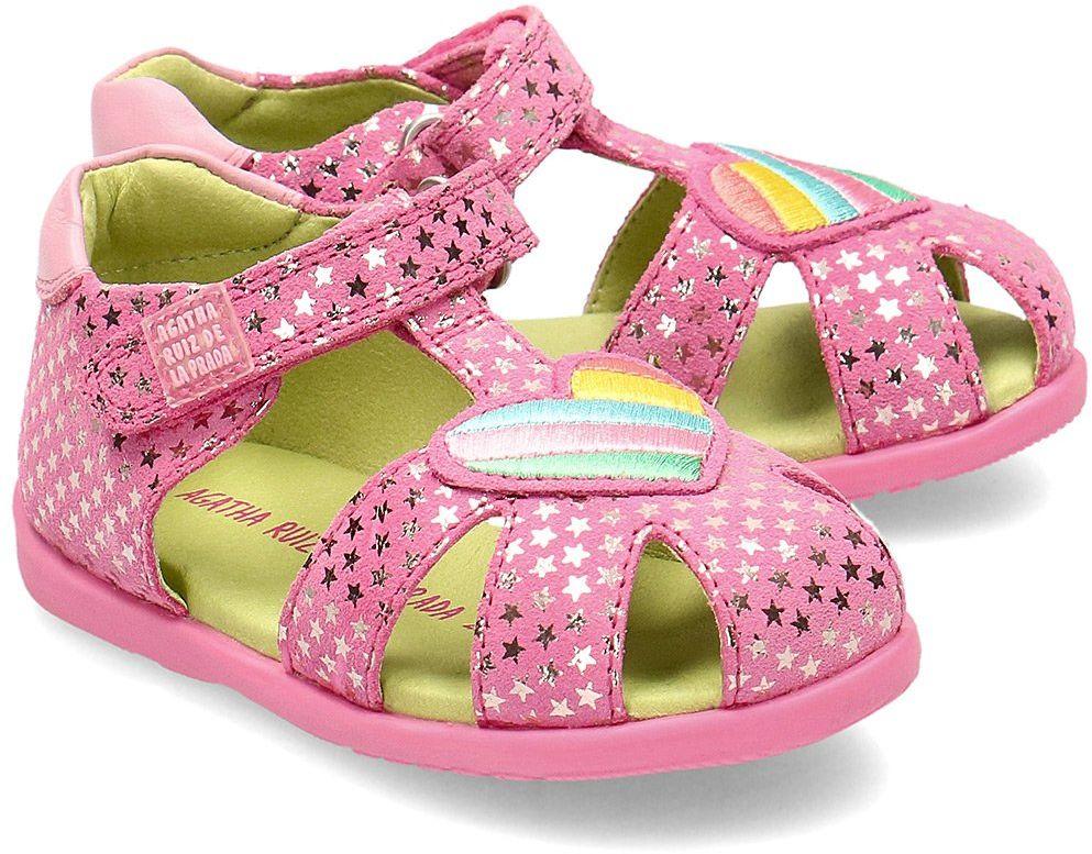 Agatha - Sandały Dziecięce - 202904 C-ROSY Y ESTRELLAS - Różowy