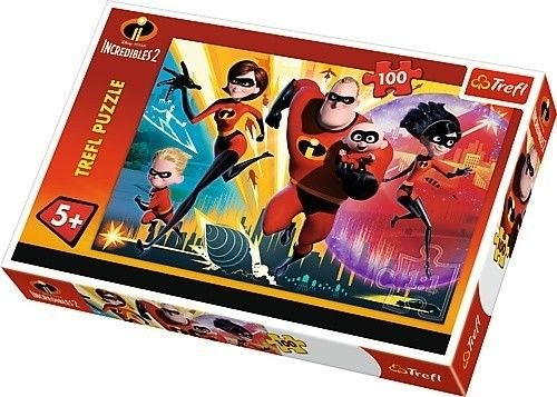 Puzzle TREFL 100 - Iniemamocni, The Incredibles