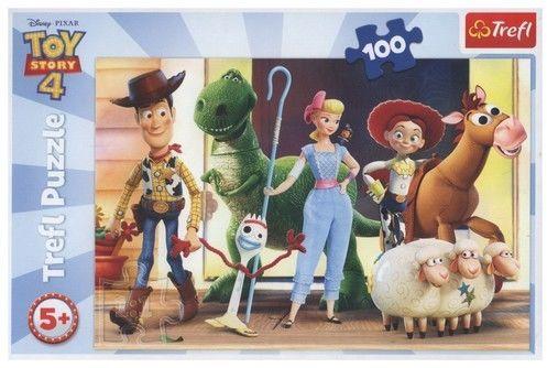 Puzzle TREFL 100 - Toy Story 4: Bawmy się!, Lets play!