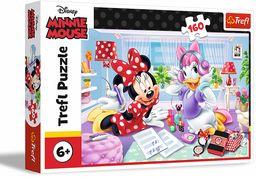 Trefl Dzień z Przyjaciółką Puzzle 160 Elementów Disney Minnie Mouse o Wysokiej Jakości Nadruku dla Dzieci od 6 lat