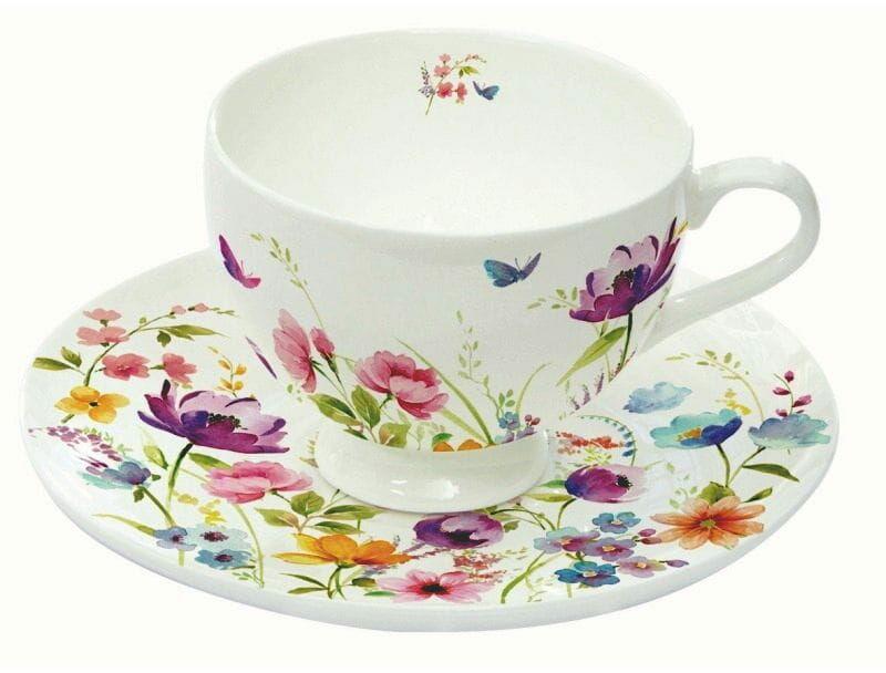 Easy Life/R2S, filiżanki-espresso 2x - Fleurs Des Champs, kwiaty polne