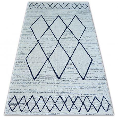 Dywan SZNURKOWY SIZAL COLOR 47272/396 Romby Kwadraty Biały 60x110 cm