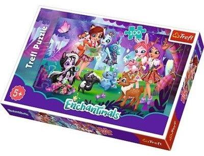 Puzzle TREFL 100 - Enchantimals, Zabawa z przyjaciółmi, Fun with friends