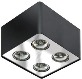 Plafon Nino 4 AZ0852 AZzardo kwadratowa oprawa w kolorze czarnym