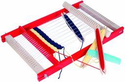 Beluga Spielwaren 10017  drewniana ramka do tkania, szerokość tkaniny: 25 cm, naturalna czerwień