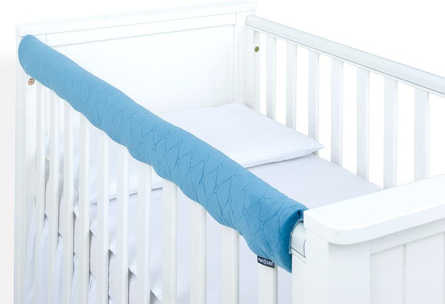 MAMO-TATO Ochraniacz na górną krawędź łóżeczka - Velvet Jeansowy