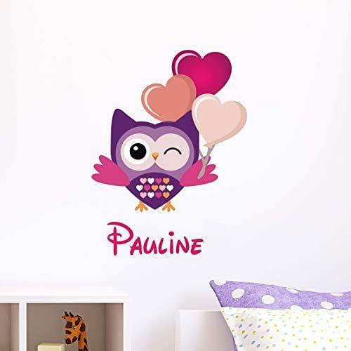 Spersonalizowana naklejka z imieniem, samoprzylepna, możliwość personalizacji, do pokoju dziecięcego, 2 arkusze o wymiarach 25 x 25 cm i 40 x 25 cm, wielokolorowa