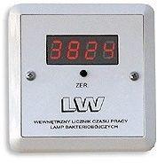 Ultraviol Licznik cyfrowy LW SK Licznik z wyświetlaczem LCD 4 polowym, wewnętrzny ze stacyjką i kontrolką