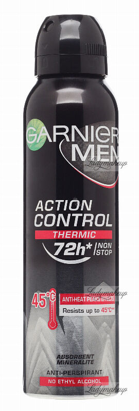 GARNIER - MEN - ACTION CONTROL THERMIC 72H ANTI-PERSPIRANT - Antyperspirant w spray''u z termo ochroną - 150 ml