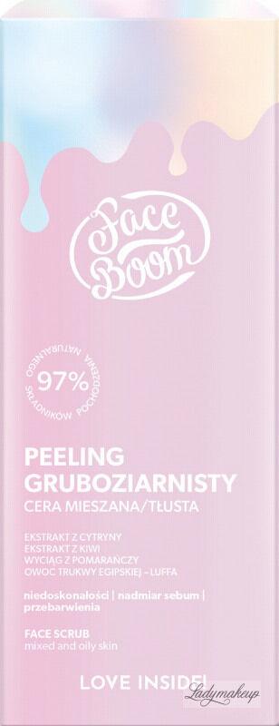 BodyBoom - Face Boom - FACE SCRUB - Peeling gruboziarnisty - Cera mieszana i tłusta - 50 g