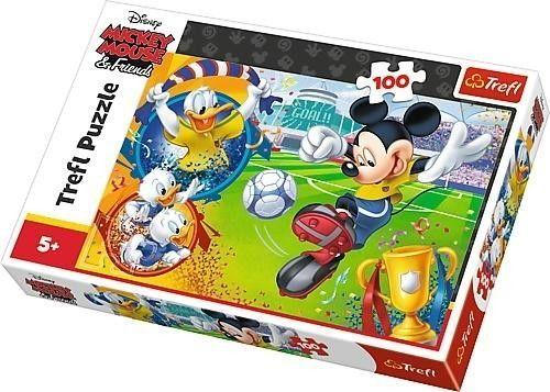 Puzzle TREFL 100 - Myszka Miki na boisku, Mickey Mouse on the field