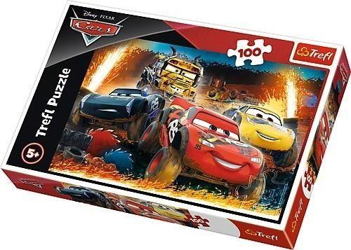 Puzzle TREFL 100 - Autka, Ekstremalny wyścig, Cars, Extreme race