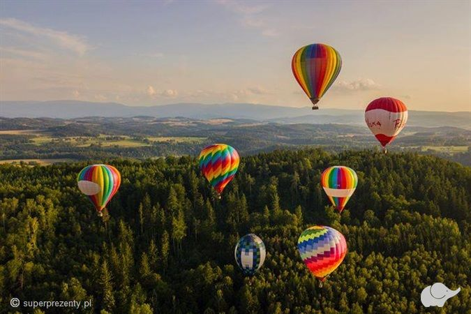 Lot Balonem Wiele Lokalizacji