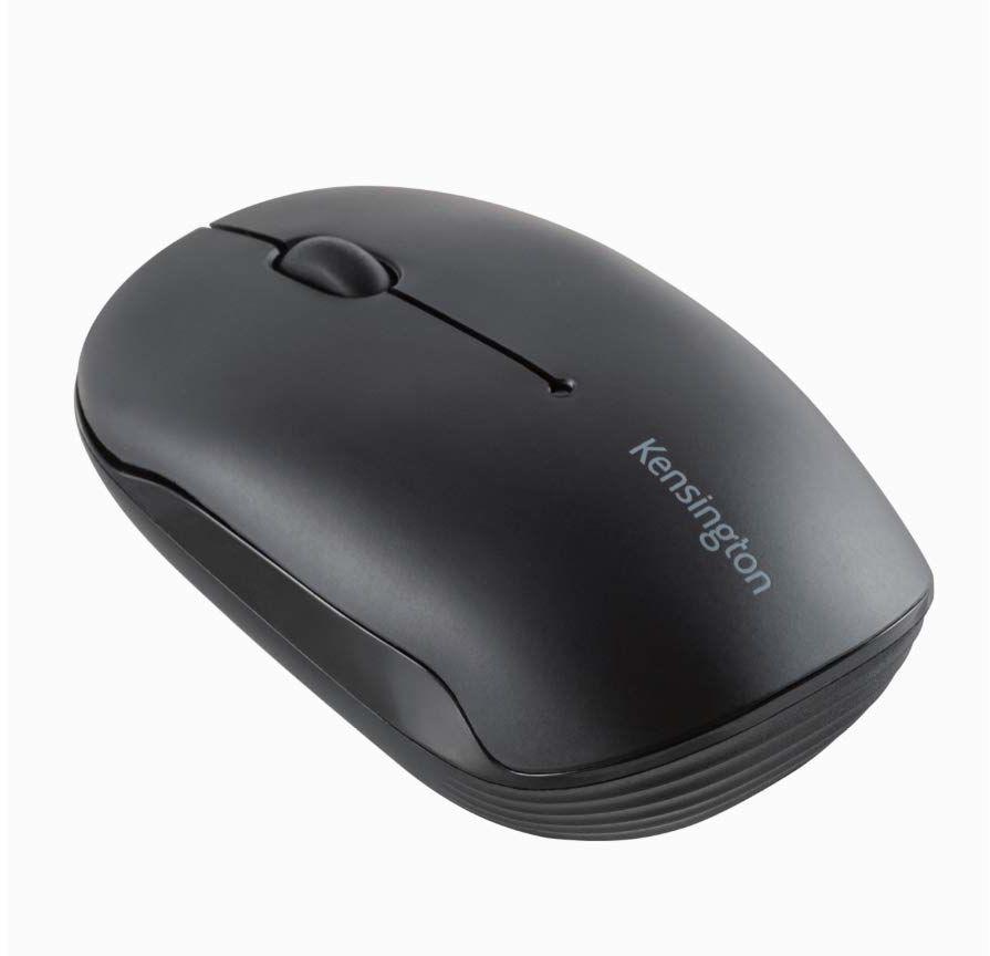 Kensington Pro Fit mobilna mysz Bluetooth (3.0 lub 5.0), możliwość użycia obu rąk, idealna do małych biurek i biur, kompatybilna z Windows, Mac i Chromem, K74000WW