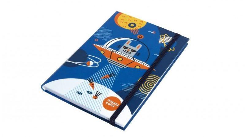 Brulion A5 96k Happy Color Space Królik HC HA7613 1420 MS2