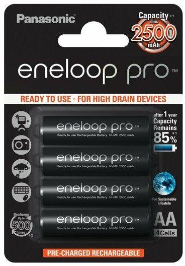 Akumulator Panasonic Eneloop Pro AA 2500 mAh - 4 szt. (BK-3HCDE-4BE)
