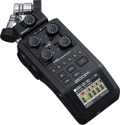Rejestrator dźwięku Zoom H6 czarny